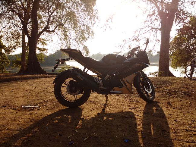 Check This Out Taking Photos Sunset Riverside Yamaha R15 Mobile Photography