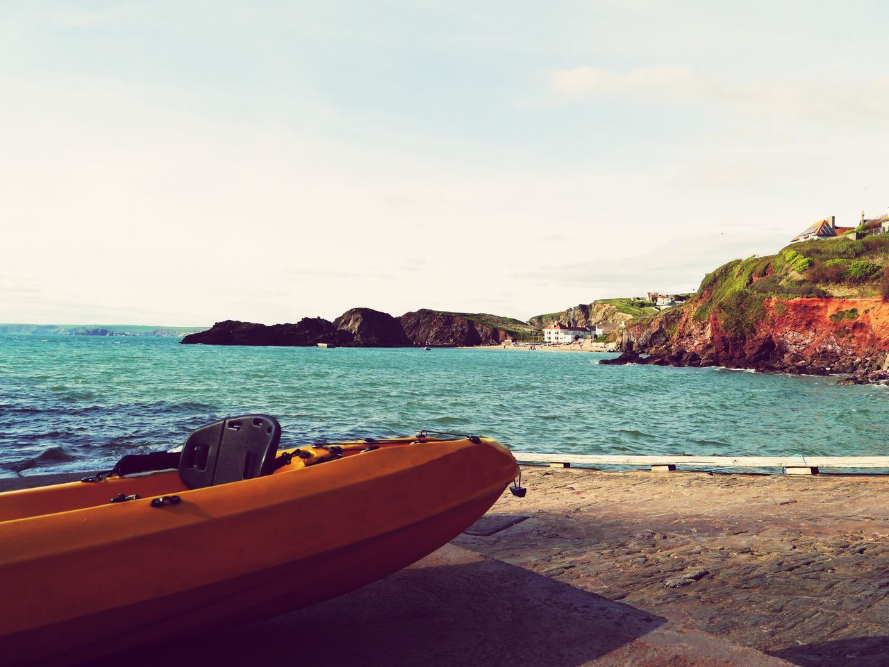 Sea Water Sky Nautical Vessel Beauty In Nature Beach Nature Transportation Outdoors Scenics No People Horizon Over Water Day EyeEmNewHere Nature Devon Hope Cove Happy Relaxing
