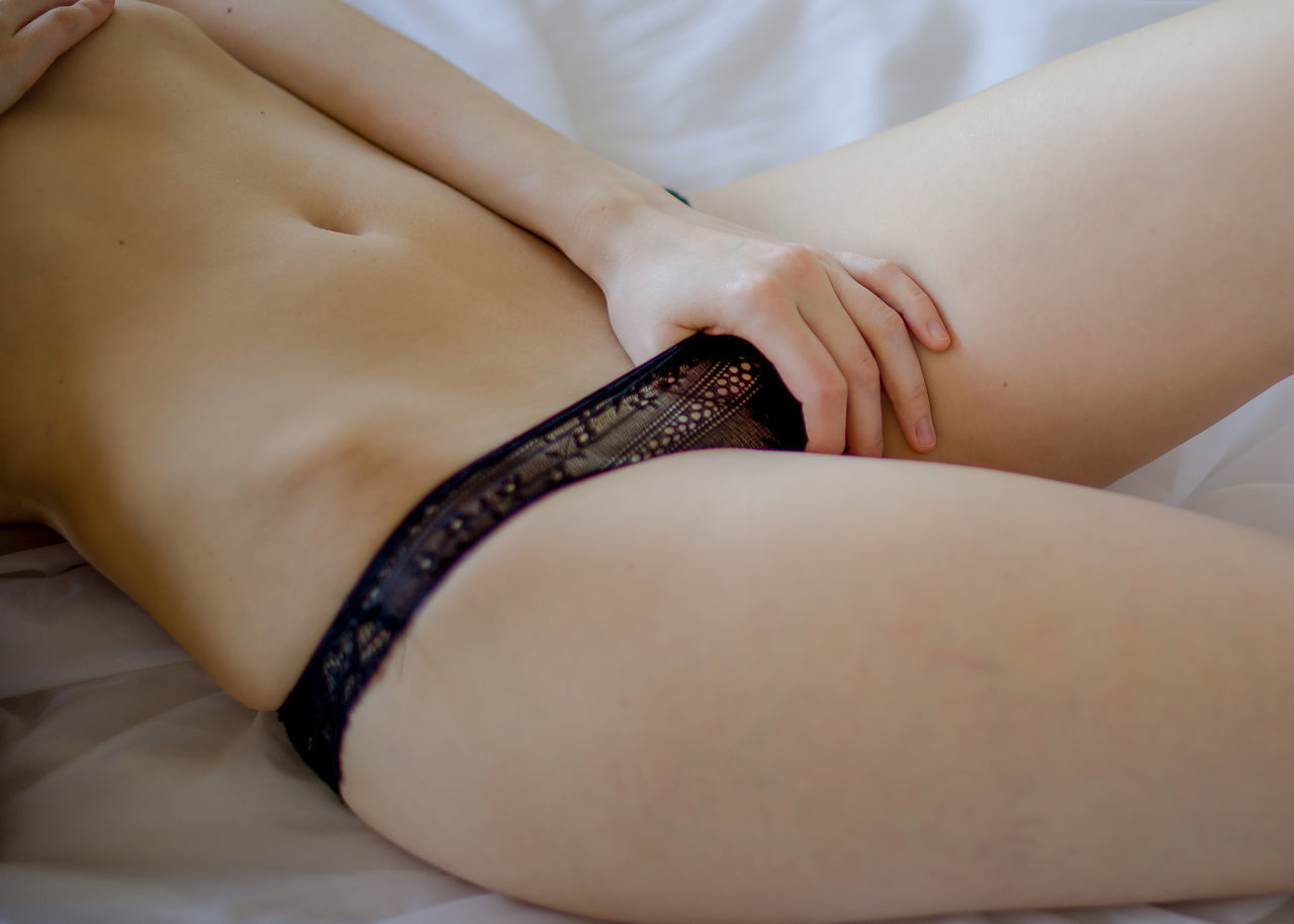 Bed Belly Button Close-up Day Human Skin Indoors  Lingerie One Person Real People Women