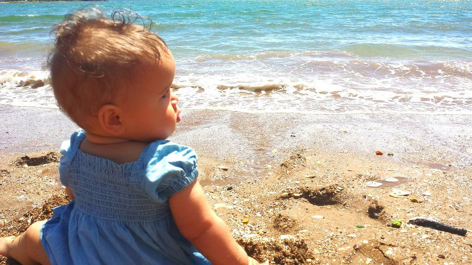 Childhood Outdoors Todays Adventures Beachphotography People Watching Ocean View Baby Girl Sand Castles  Leisure Activity Baby Photography Baby Adventures Baby Fashion Simple Pleasures Relaxing Lifestyles Photograpy Water Baby Beach Baby Swimming Summer