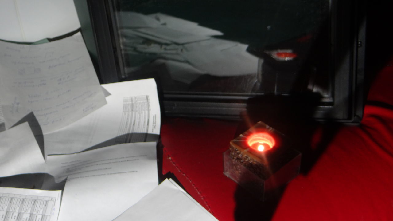 indoors, red, no people, close-up, paper, illuminated, day