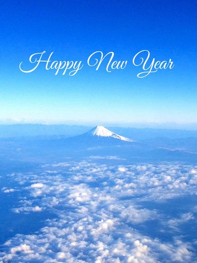 Happy New Year 2016 Japan Mountain Fujisan 富士山 Sky Clouds Clouds And Sky