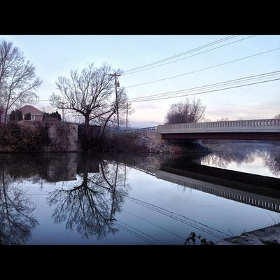 Old Rt. 31 bridge by Abbey Park reflections
