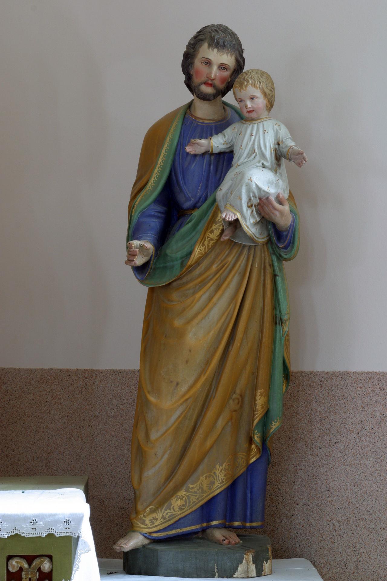 Saint Joseph holding baby Jesus Altar Art Belief Christianity Church Croatia Faith Holy Jesus Joseph Patron Religion Religious  Saint Spiritual Spirituality Worship
