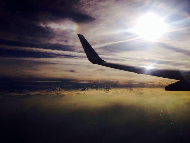 Above Voyage Sunset Plane Peace