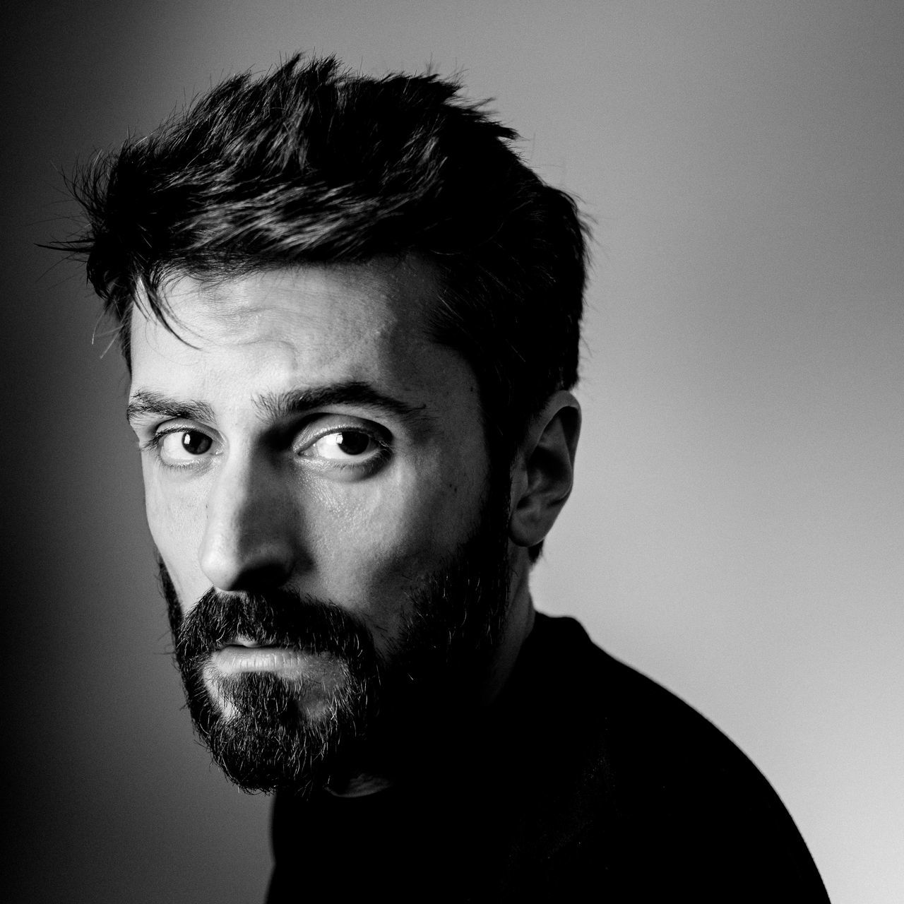 Irving Penn's tribute beard Black & White black and white black and white photography Black Background blackandwhite blackandwhite photography close-up gaze Hair headshot Looking At Camera one man only one person plain background portrait studio shot young adult Fresh on Market 2017