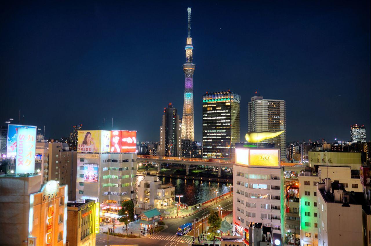 Tokyo Night Night Lights Illumination Tokyo Sky Tree ラブリーショコラ Battle Of The Cities