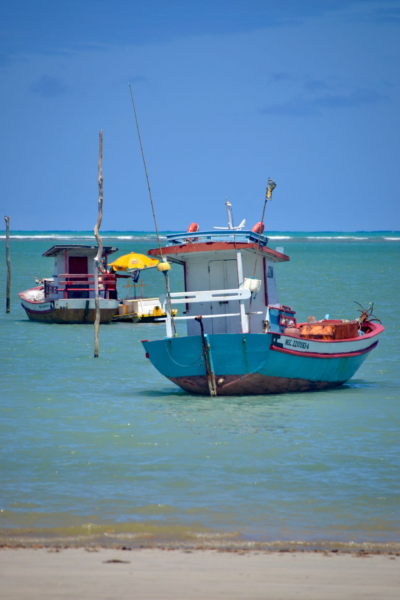 Transportation Sea Mode Of Transport Nautical Vessel Sky Blue Day Water Outdoors Moored Nature No People Scenics Horizon Over Water
