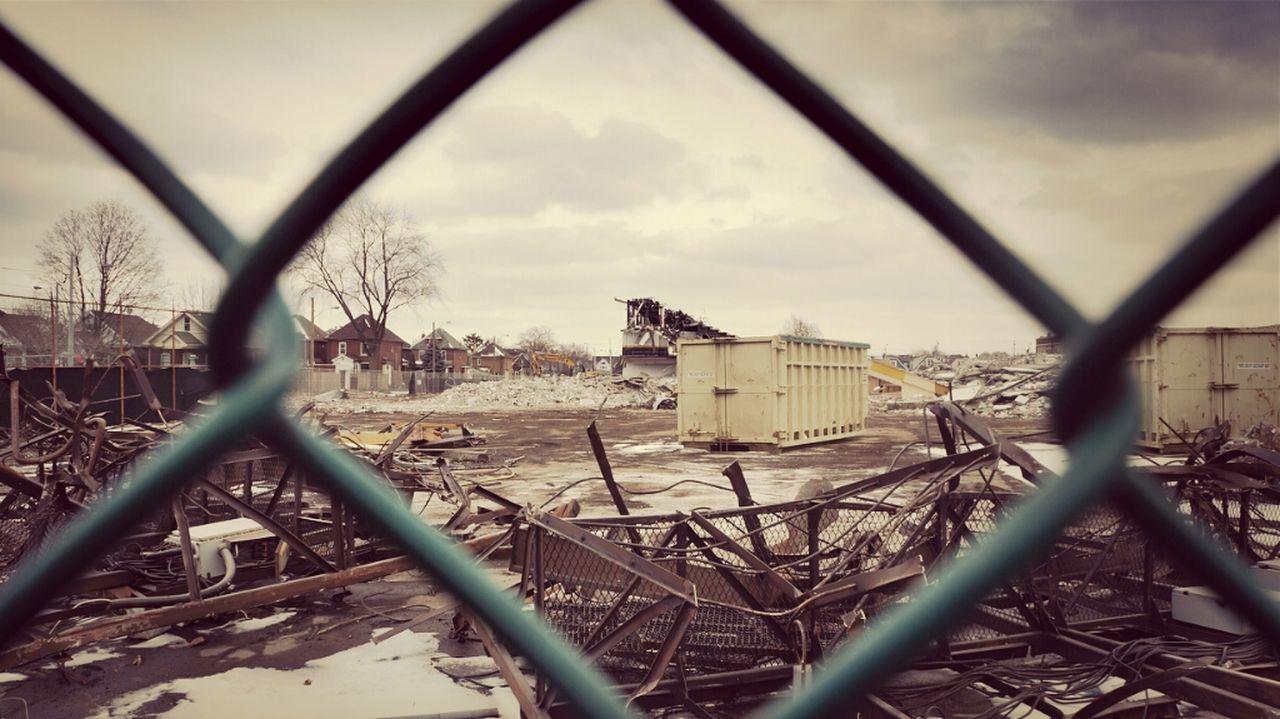 Vintage Winter Retro Stadium Sony NEX5N Demolition Deconstruction HamOnt Ivorwynne