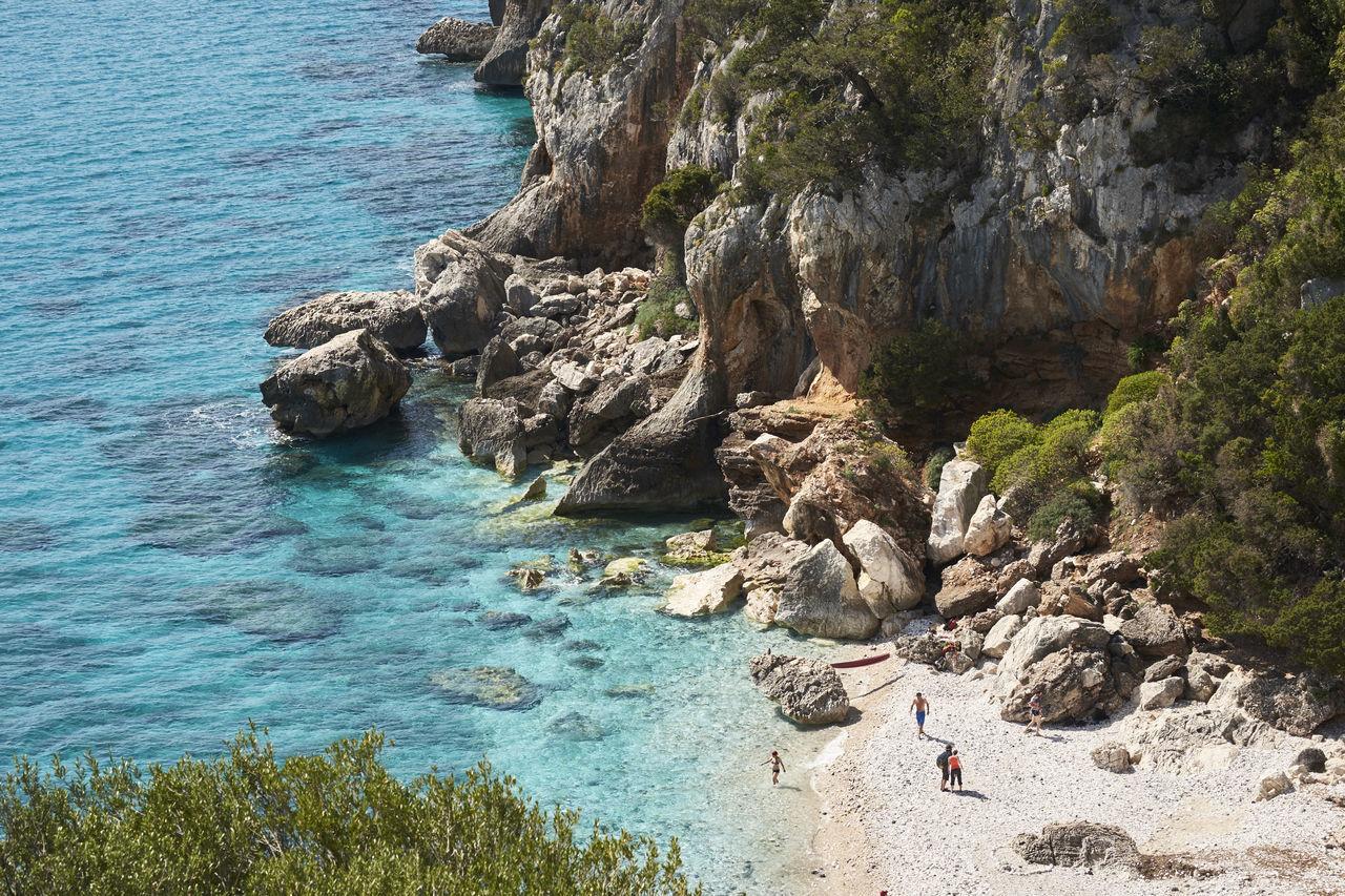 Beach Blue Clear Sky Clear Water Cliffs Crystal Clear Waters Cyan Emerald Italy Peacfull Sand Sardinia Sardinia,italy Sea Swim Swimming Water White Sand