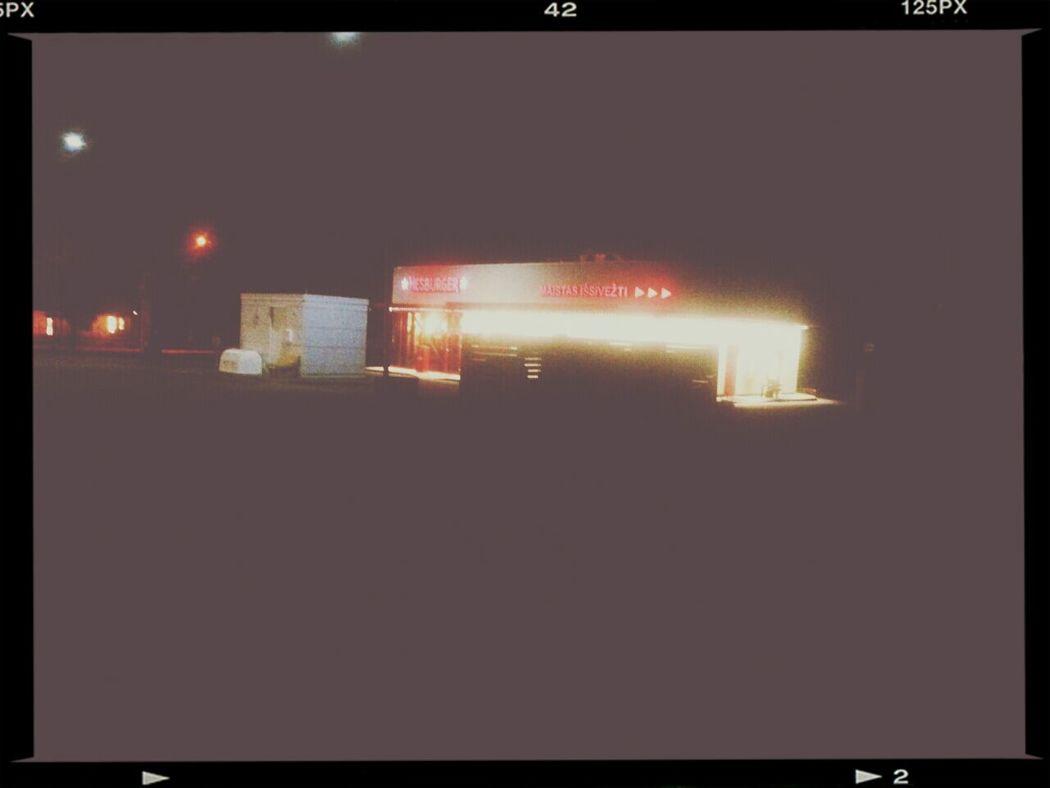 Vilnius Night Hesburger Night Lights