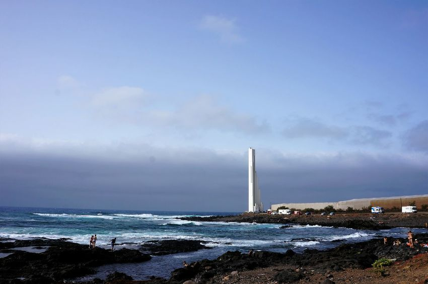 Sea Water Nature Sky Horizon Over Water Smoke - Physical Structure Outdoors No People Beach Day Tenerife Vacations Landscape Lighthouse