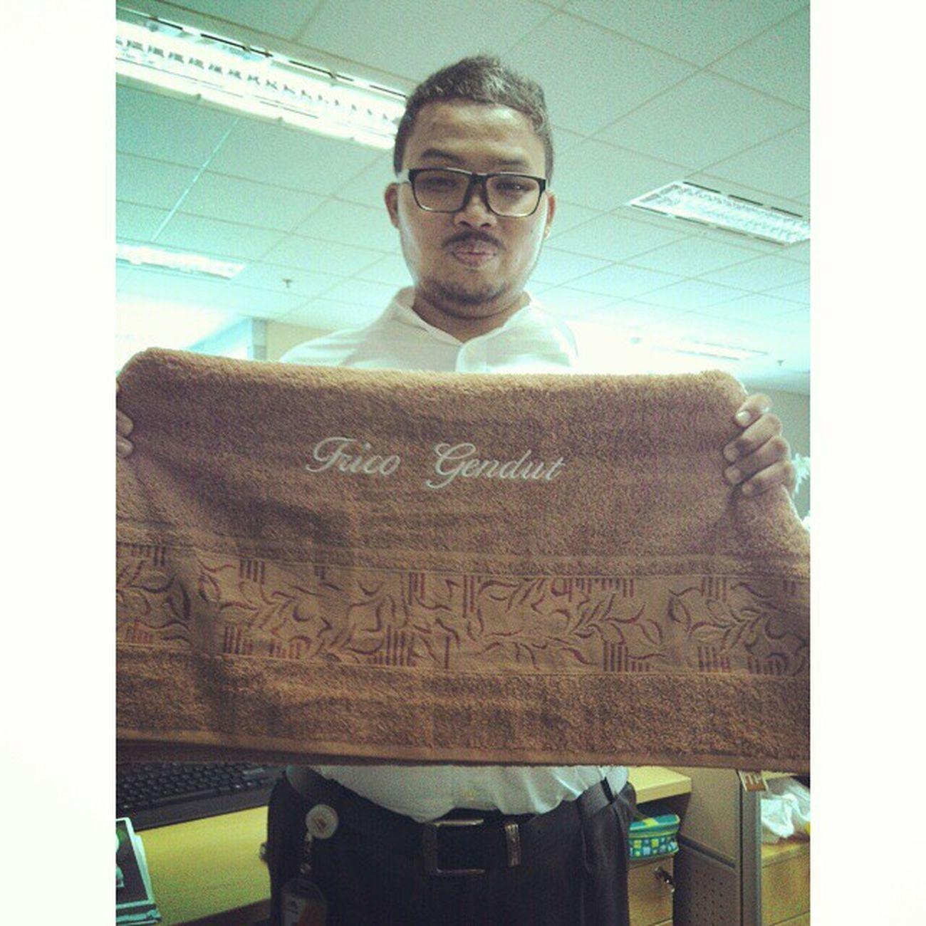 new towel terimakasih teman-teman Fricosihaloho InstaMagAndroid HappyBirthday