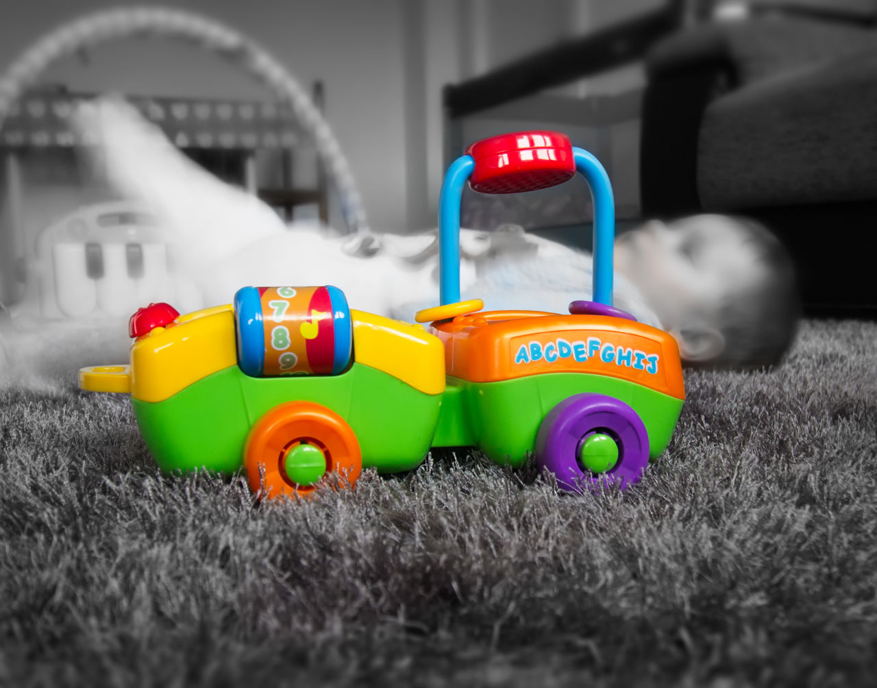 toy, childhood, toy car, multi colored, plastic, indoors, no people, close-up, day
