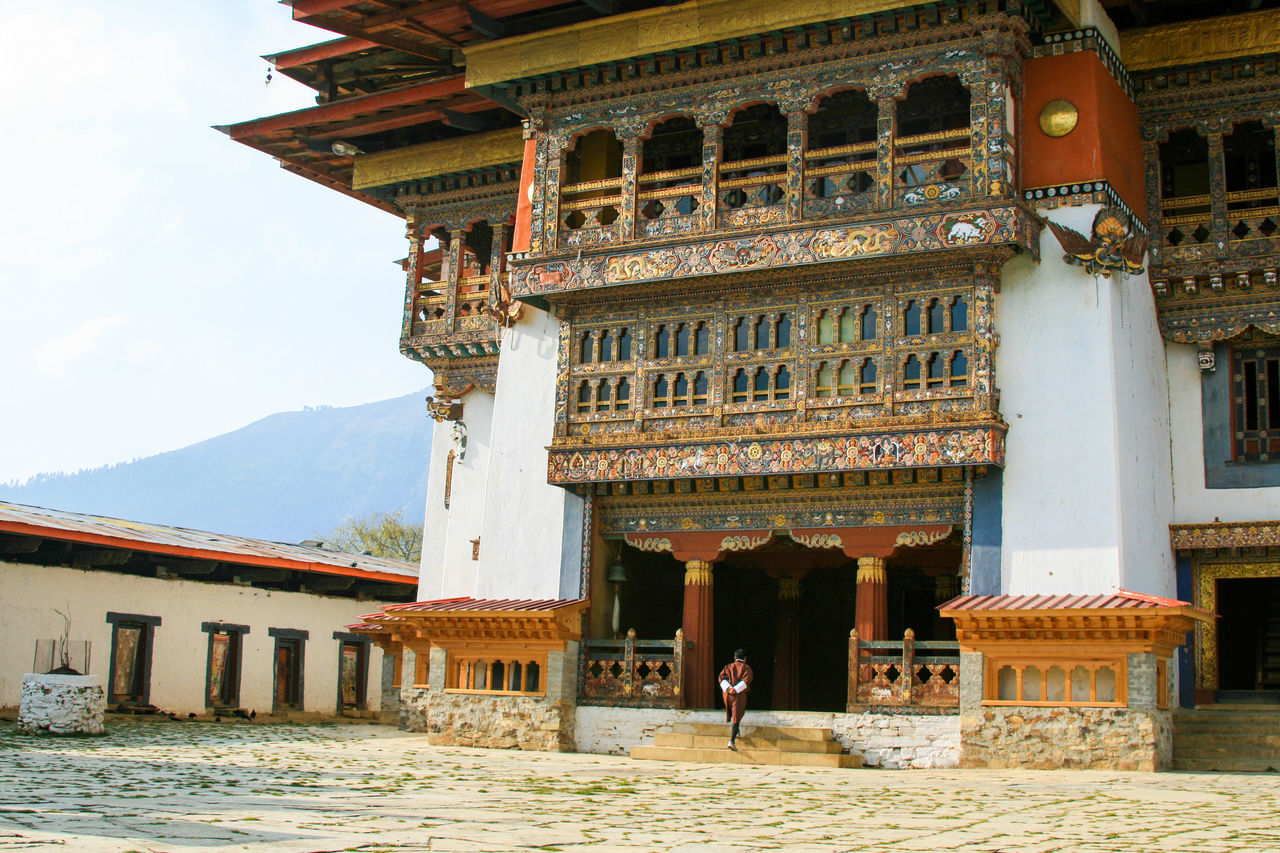 Ancient Architecture Bhutan Buddhism Buddhist Monks Courtyard  Spirituality Temple Worship