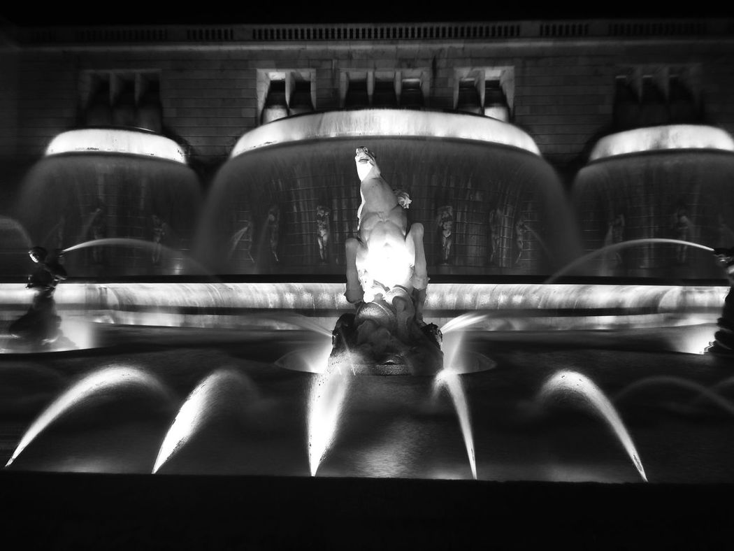 Fueling The Imagination AMPt_community Black And White NEM Black&white IPhoneography EyeEm Best Shots - Black + White NEM Architecture Shootermag NEM Abstracts Rule Of Thirds it's a sight! In the night we can see why it's called 'the luminous fountain'. We hope that this remains untill the end of time a property of the Portuguese state. And so will be the tilted chair statue present at the West pole of this boulevard that reads: ad ephemeram gloriam to all that pass and dare to stop.