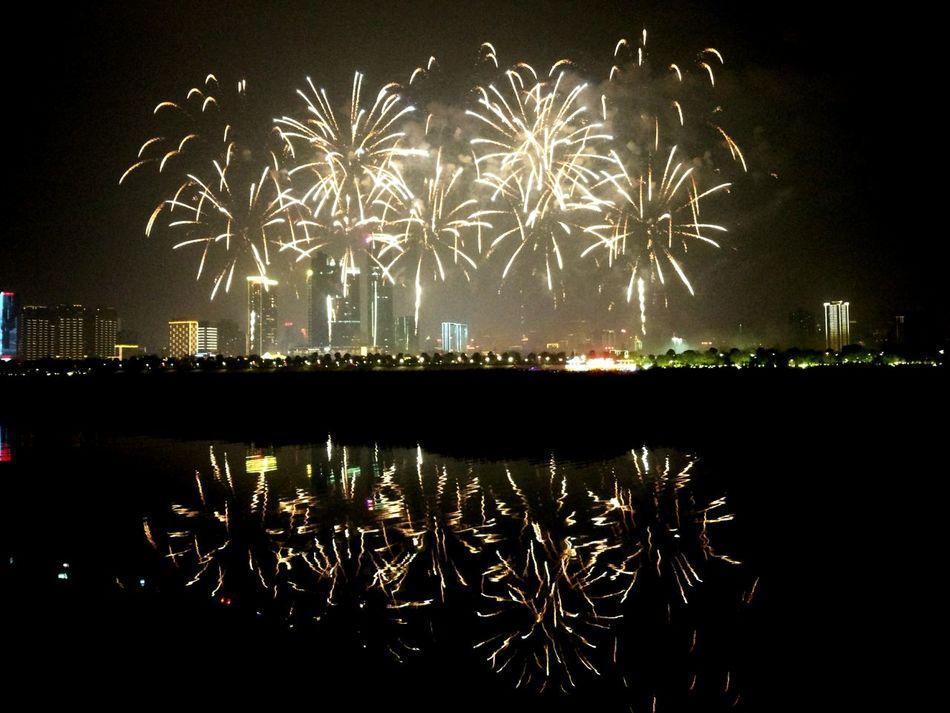 Taking Photos Fireworks Firework Display Beautiful Day Changsha