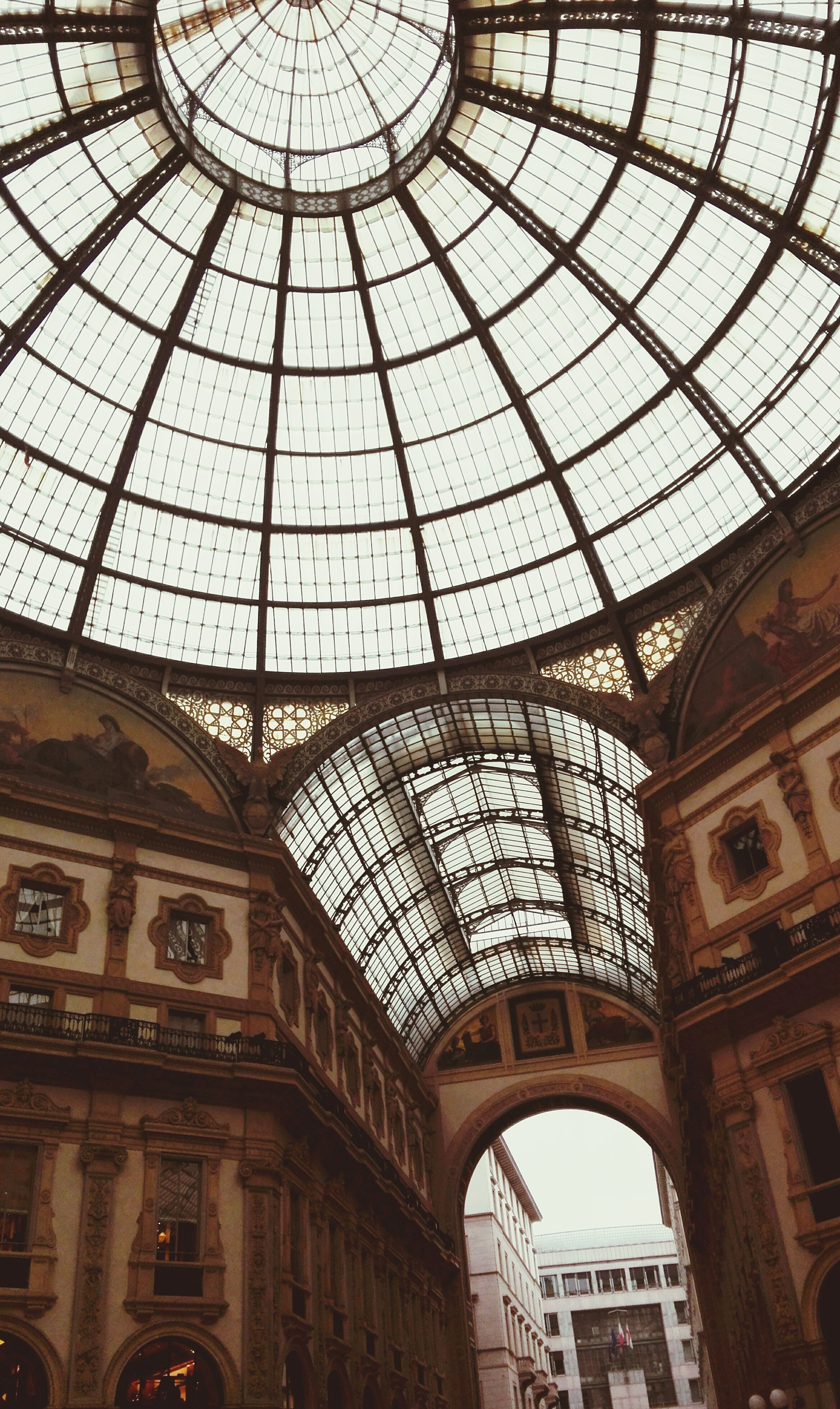 ceiling, architecture, indoors, travel destinations, travel, low angle view, tourism, day, no people, built structure