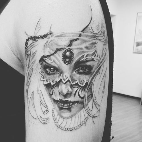 Unfinished Work... Tattoo Black & White Tattoo By Me