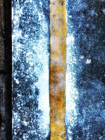 Spilt Milk Road Milk Puddle LINE Yellow Yellow Line Tarmac Kerb Spilt Spilt Milk