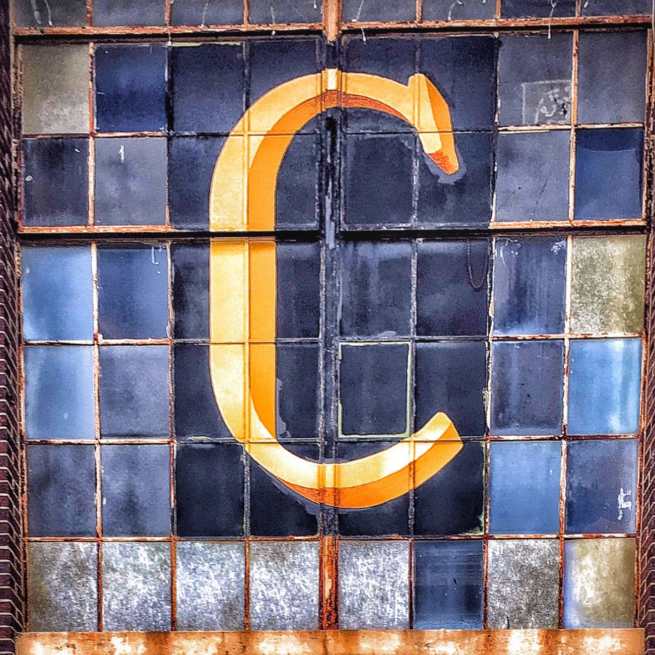 The Letter C Architecture Window Geometric Shape No People Weathered Old Windows Initial