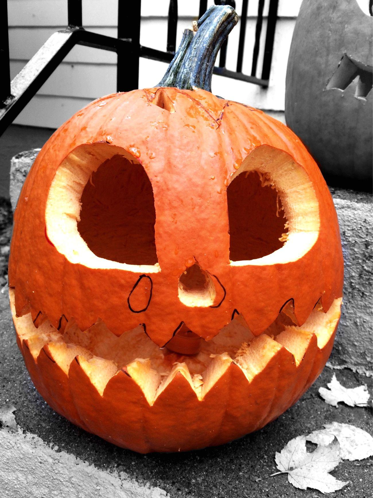 1st Pumpkin carving Pumpkin