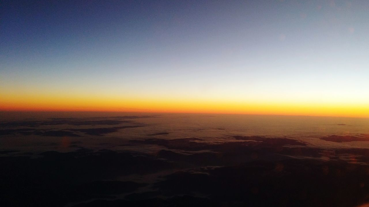 Aerial View Sunset Beauty In Nature High Angle View Horizon Cloud - Sky Backgrounds No People