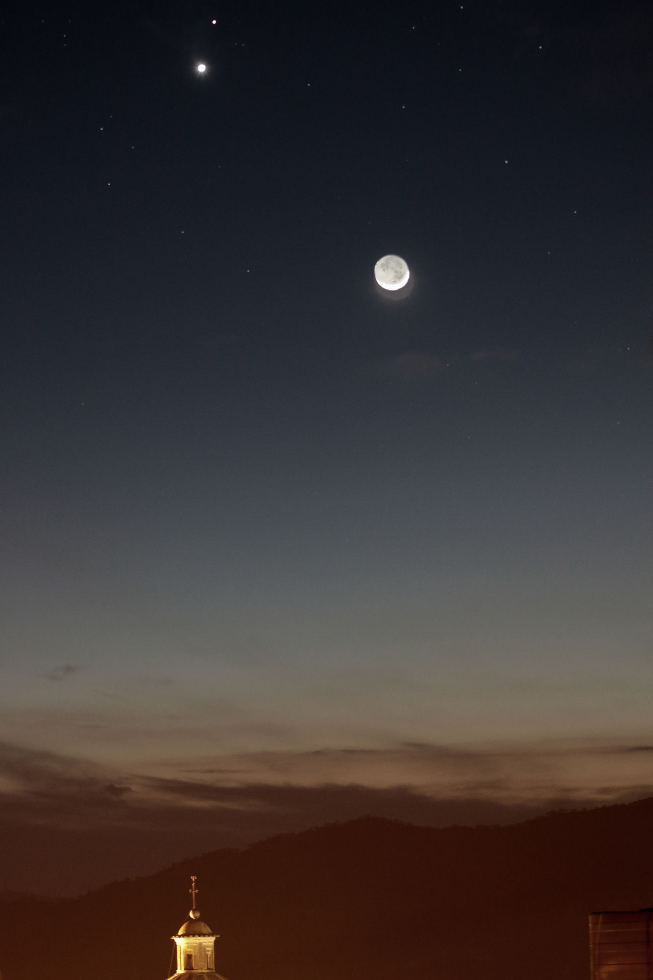 moon,mars,venus Astronomia Dark Distant Lunga Esposizione Notturno Pianeti Remote Silhouette The Great Outdoors - 2016 EyeEm Awards