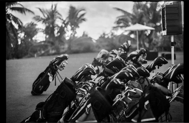 Driving range. I was lucky enough to work in the Bahamas for a couple of days at a golfing resort, more shots using my Nikkormat film camera soon! Bahamas Black & White Black And White Blackandwhite Blackandwhite Photography Driving Range Film Film Is Not Dead Film Photography Filmcamera Filmisnotdead Filmphotography Golf Golfcourse Golfing Nikkormat FS (1965) Nikon Nikonphotography Palm Trees