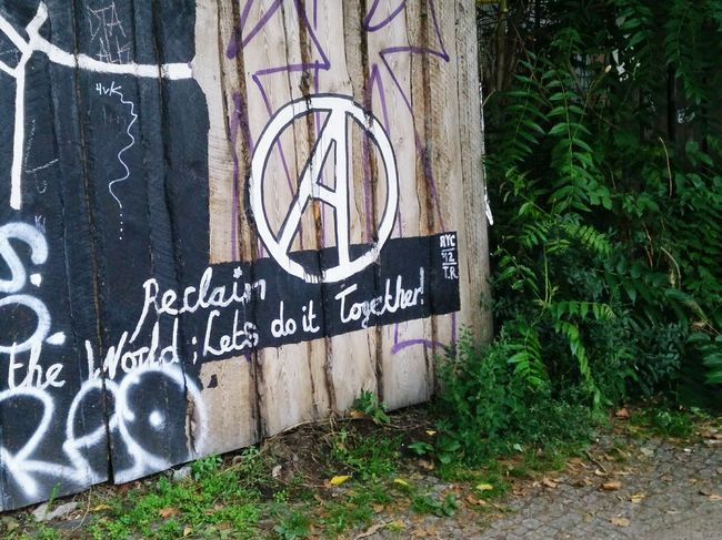 A Anarchism Utopia Reclaim Cooperation Political Street Art