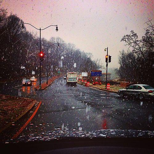 Winter2015 Canalroad Georgetown Palisades DMV Trafficlight Snow DC Idrive SnowRide FunRide