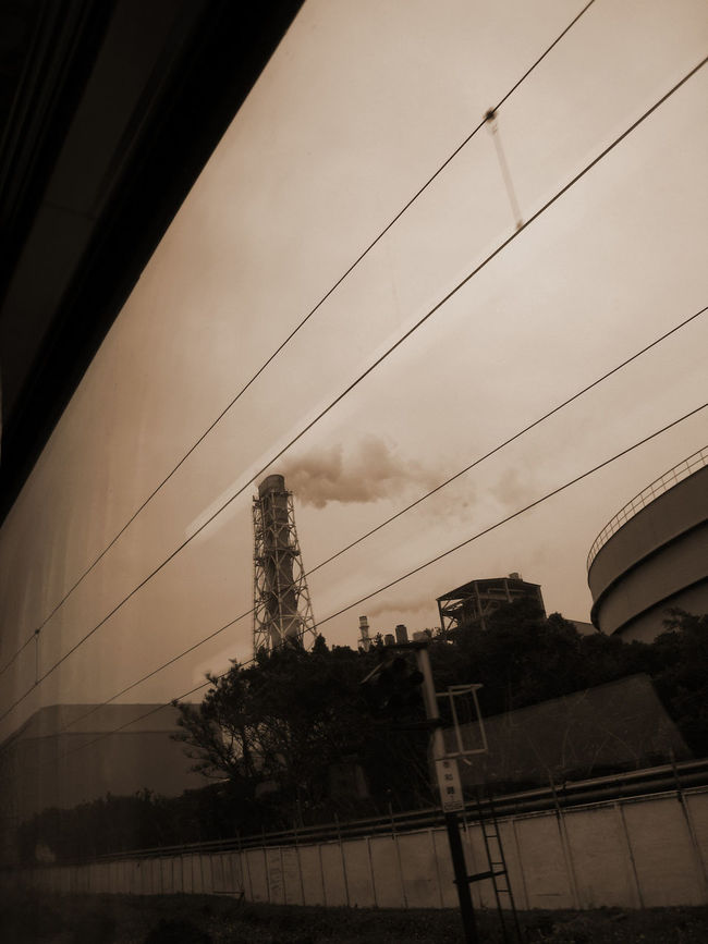 Cable Outdoors Air Pollution Tall - High No People On The Train Gray Silent Low Angle View
