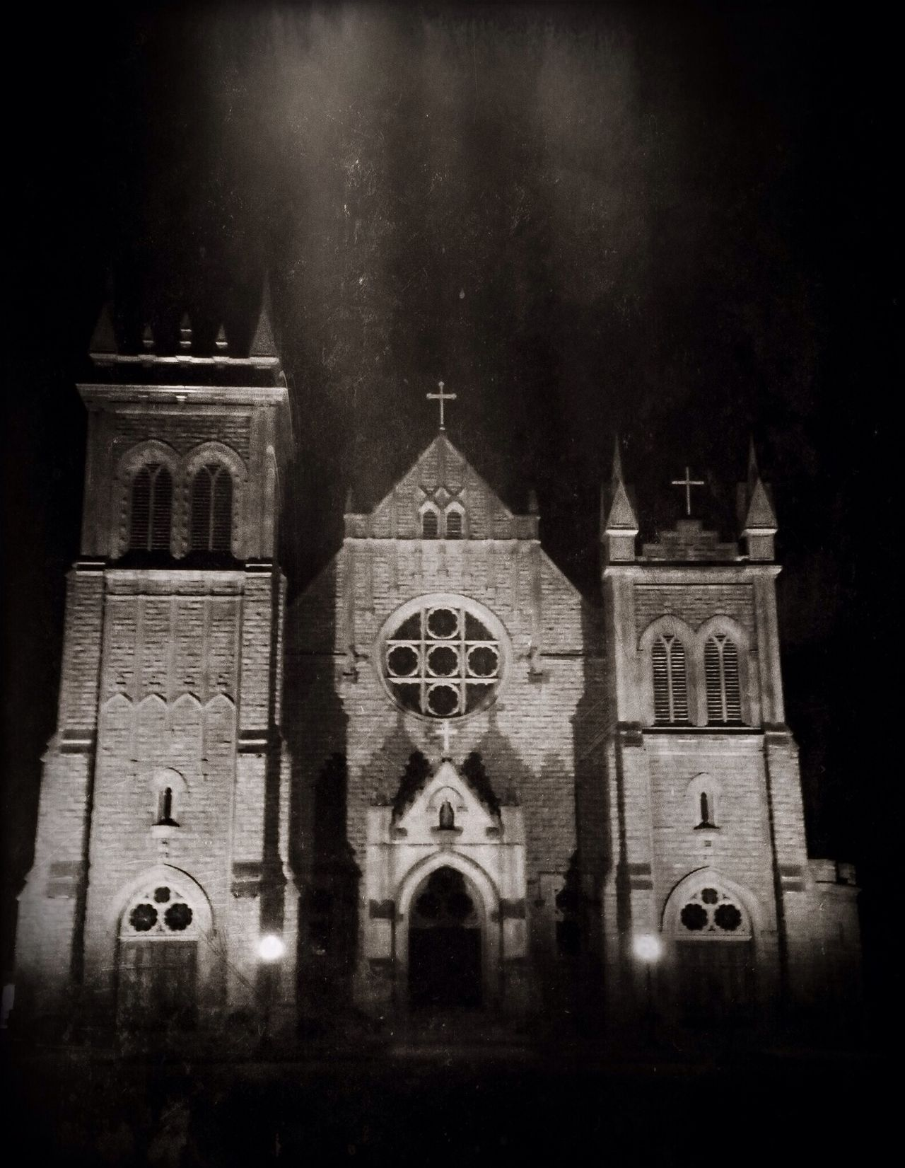 Black & White Nightphotography Churches