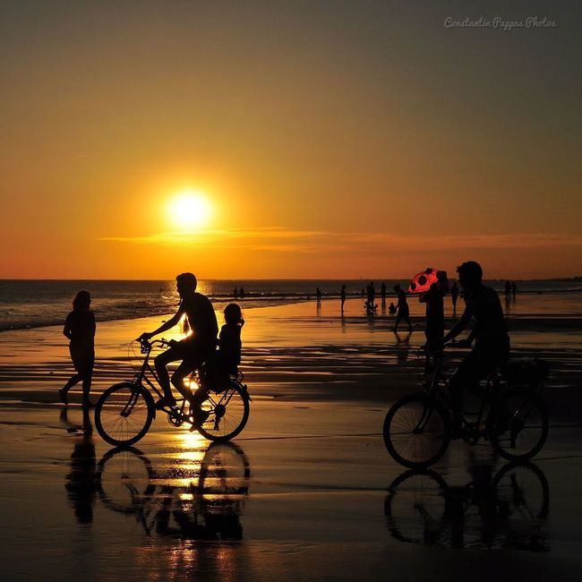 Sunset bikes Silhouettes Silhouette_collection Landscape_photography Sunset Silhouettes Beachphotography Landscape_Collection