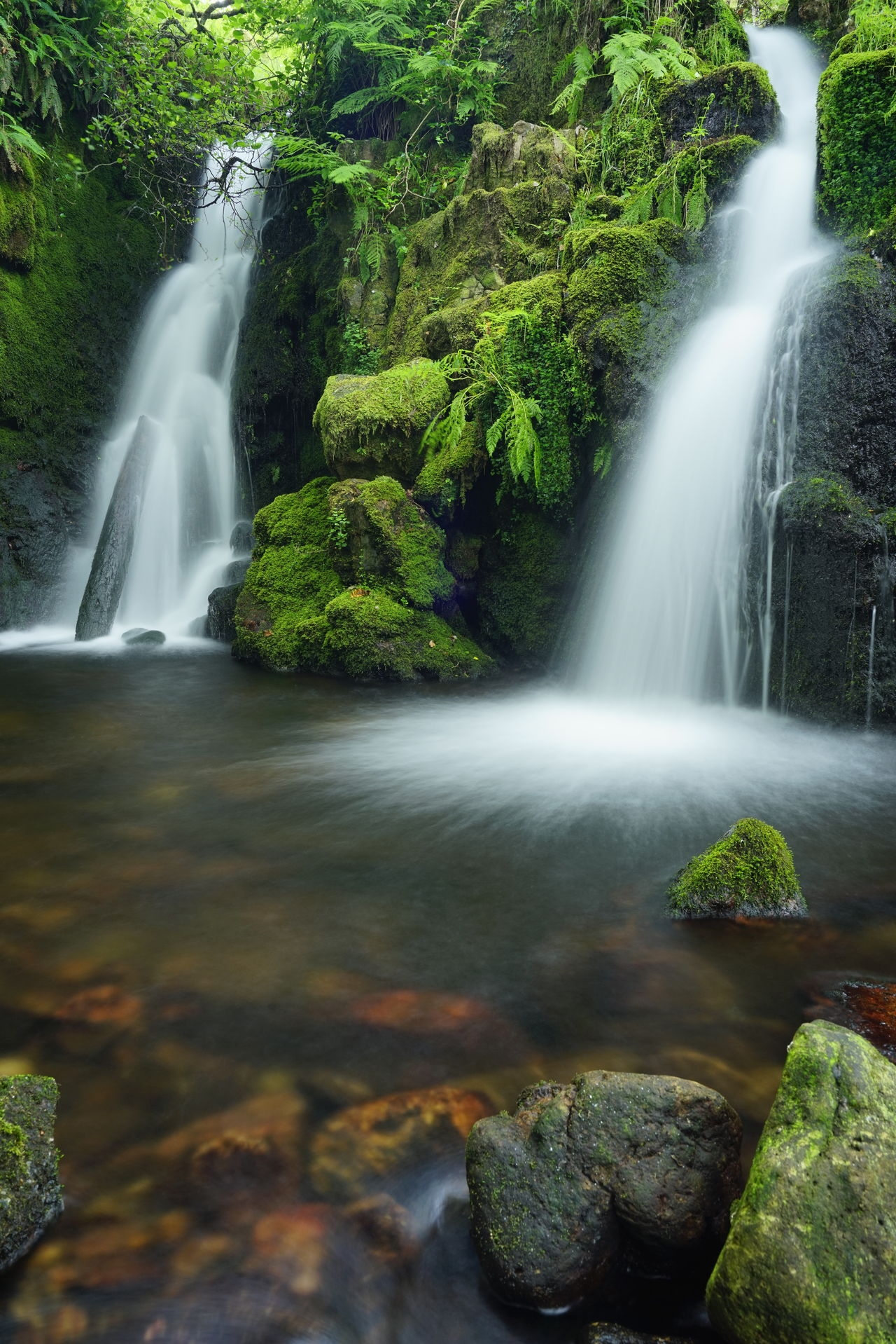 Waterfall Water Motion Long Exposure Beauty In Nature Outdoors Scenics Nature No People Green Color Beauty Spraying Day Power In Nature Freshness Tree Rocks