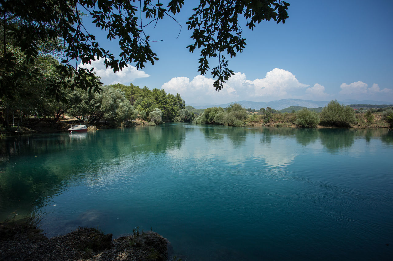 Manavgat river in Side Taking Photos Nature_collection Senic View Nature Amazing Nature Photography Amazing View Beauty In Nature Outdoors Sky Water Remote Tree Woods Forest Senic