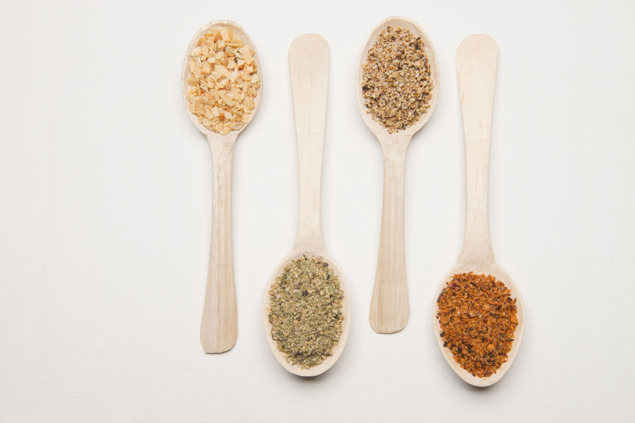 Set of wooden spoon with spices Close-up Condimenent Gourmet Cooking Gourmet Food Healthy Eating Ingredient No People Red Pepper Salt Spices Food Spoons Studio Shot Variation Wooden Spoon Wooden Spoons