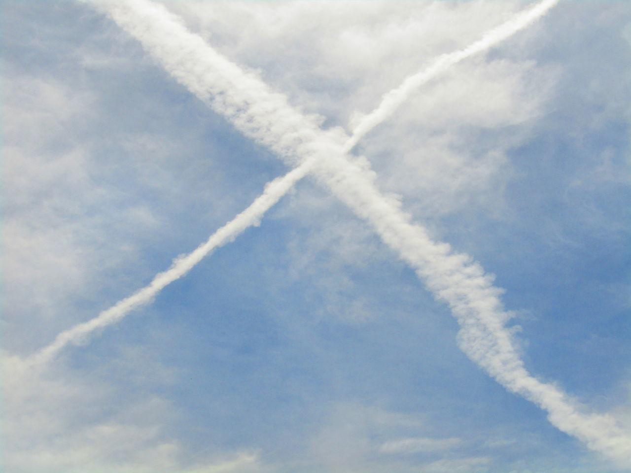 Vapor Trail Sky Pattern Kondensstreifen Contrail Chemtrails Chemtrail Himmel