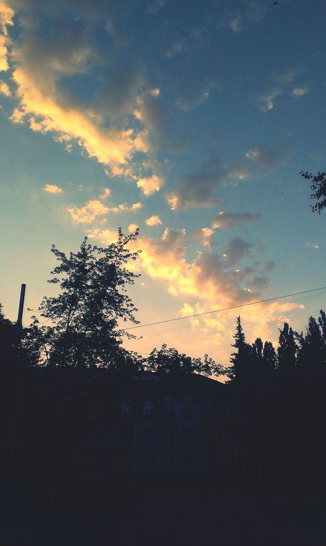 Suset Sky And Clouds Ukraine,krivoy Rog