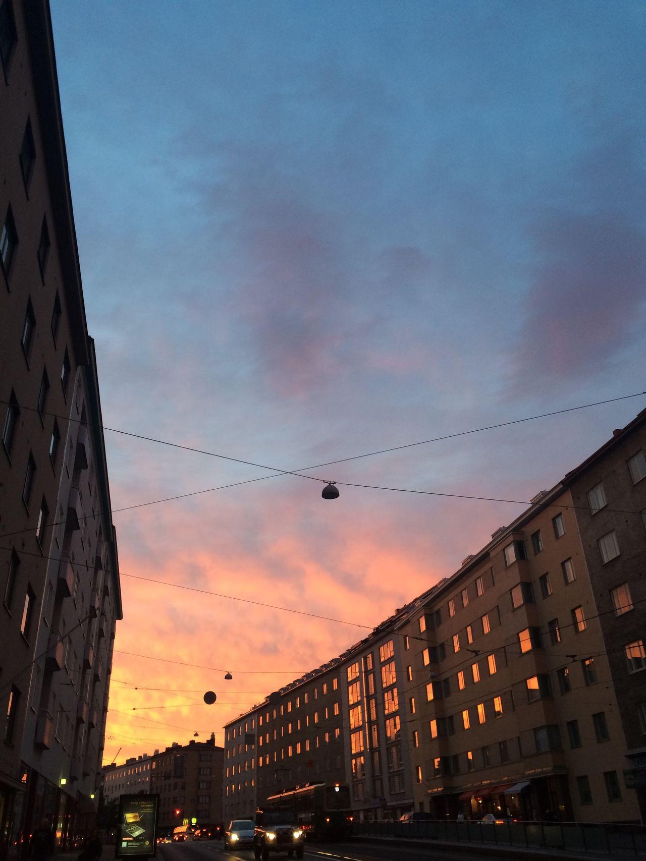 Vortex at Töölö Sunset Sky Angled City City Life Urban Urban Landscape Helsinki Töölö Orange