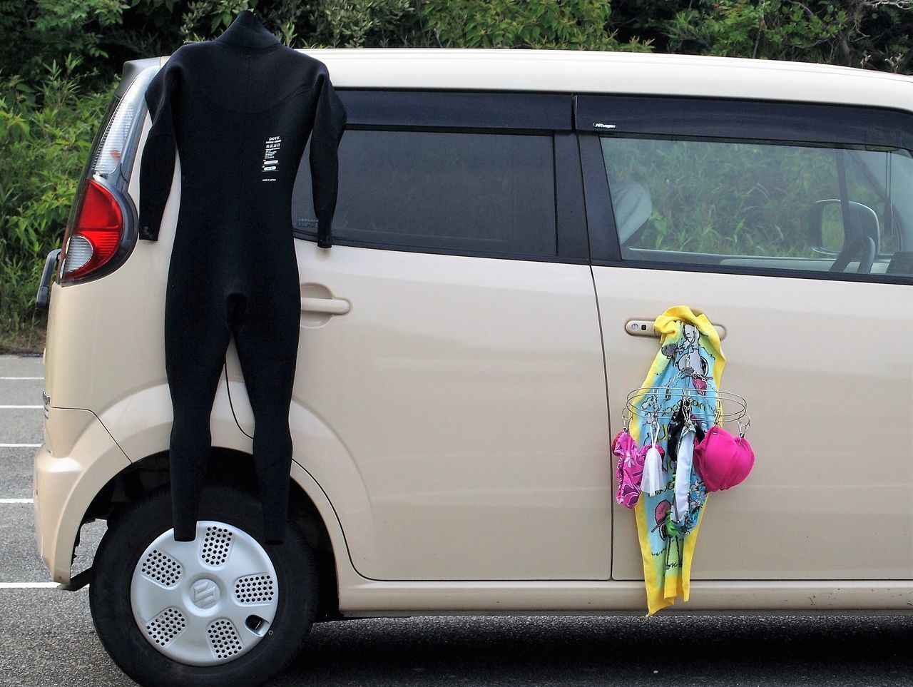 Bathing Suit  Beach Life Bikini Time❤ Car Japan Hyuga Land Vehicle Live For The Story Small Car Surfing Paradise Wetsuit