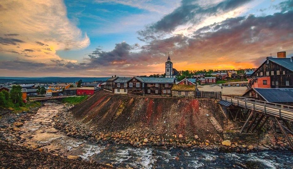 Røros Norway Bergstaden Ziir Landscape_Collection City_collection EyeEm Best Shots - Sunsets + Sunrise EyeEm Best Shots - Landscape EyeEm Masterclass The Essence Of Summer Sun_collection, Sky_collection, Cloudporn, Skyporn City Life City