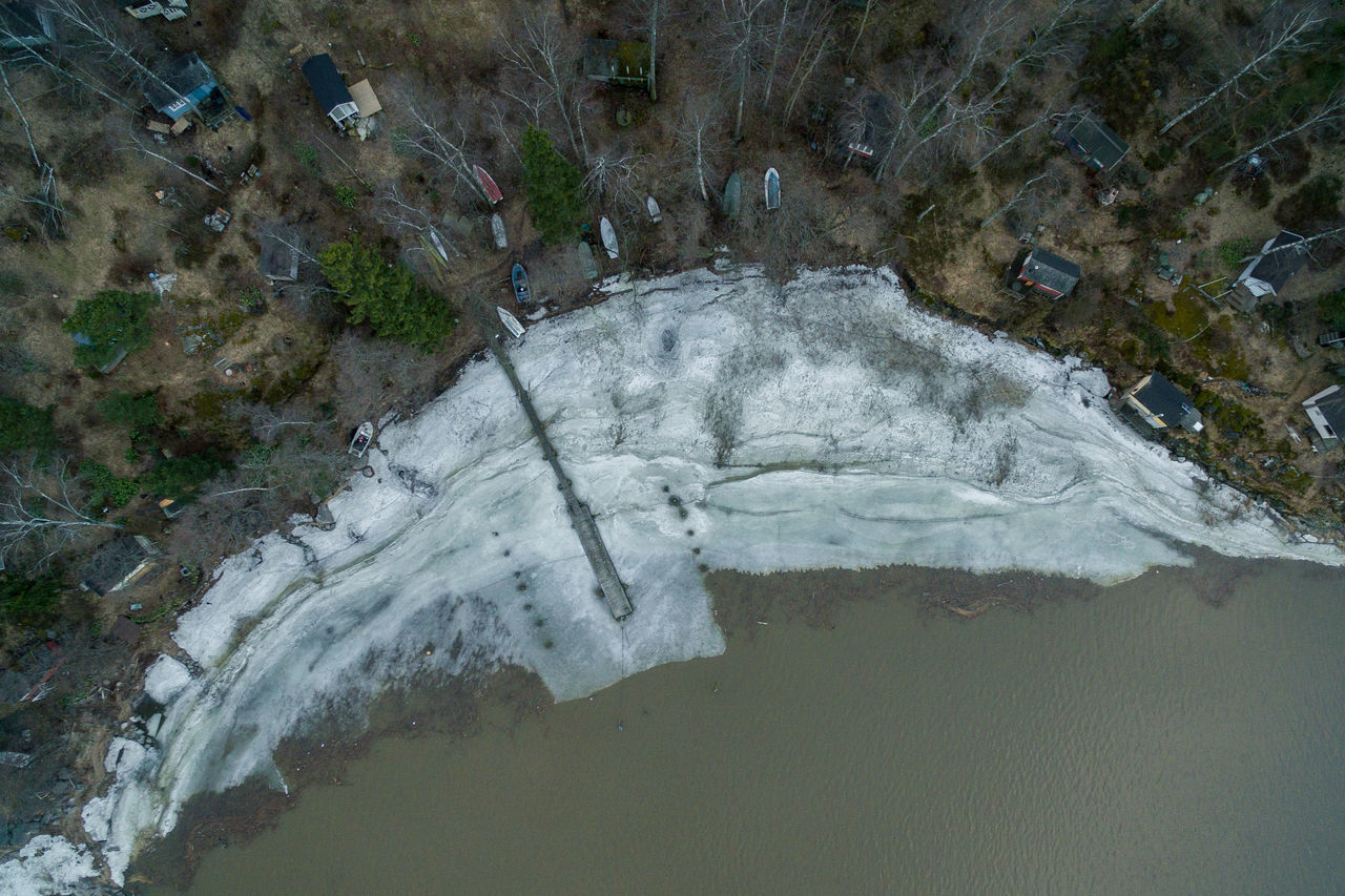 Beauty In Nature Day Drone  Finland From Above  Helsinki High Angle View Motion Nature No People Outdoors River Scenics Top Perspective Tree Water Waterfall