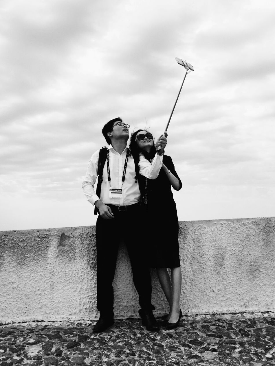 Black App Couple Full Length Holidays Iphone 6 IPhoneography Love Selfie Selfie Stick Togetherness Vacation Blackapp The Street Photographer - 2016 EyeEm Awards