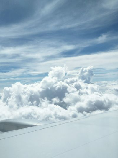 airplane window view ☁☺ Cloud Cloud - Sky Sky Cloudy Skies Cloudlovers