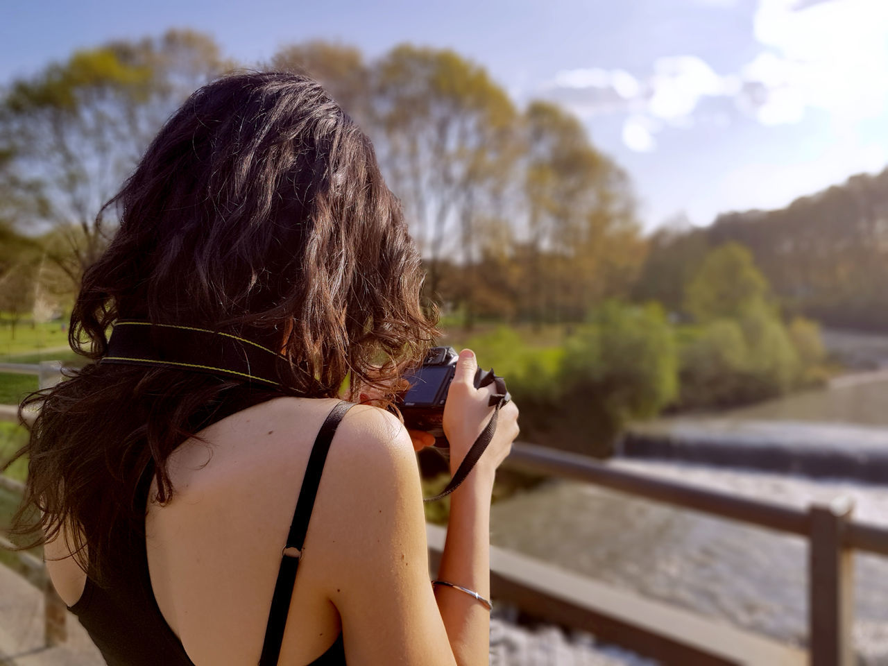 Beautiful stock photos of woman,  20-24 Years,  Camera - Photographic Equipment,  Day,  Focus On Foreground