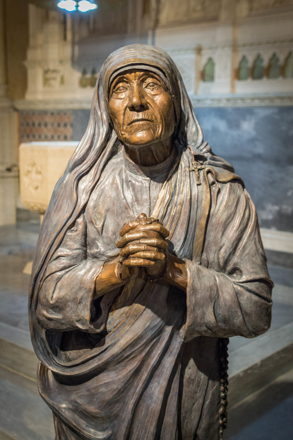 Catholic Check This Out Eye4photography  Getting Creative Getting Inspired Manhattan Mother Teresa New York New York City Nikon Nikonphotography Religion Sculpture St Patrick's Cathedral Statue