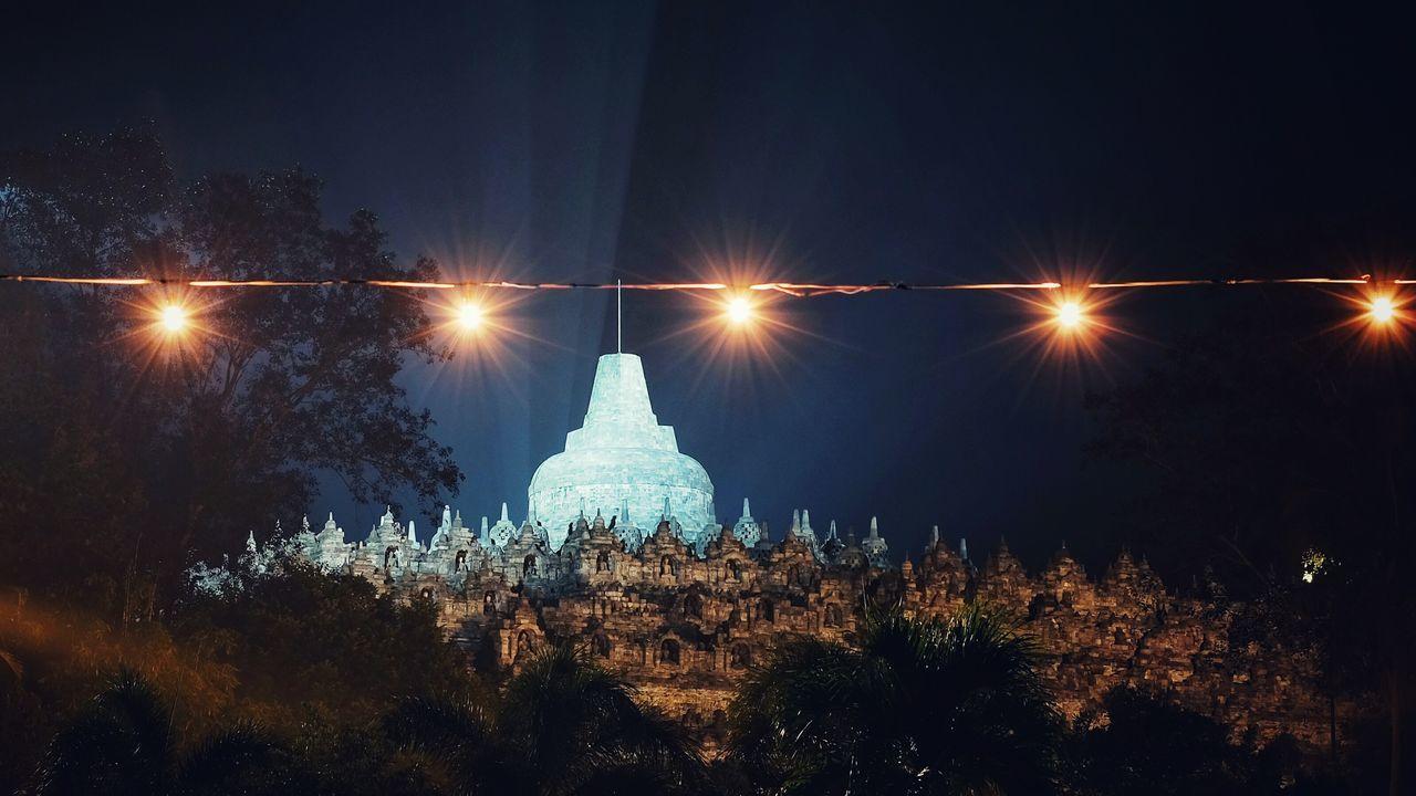 Night Illuminated No People Outdoors Sky Borobudur Central Java
