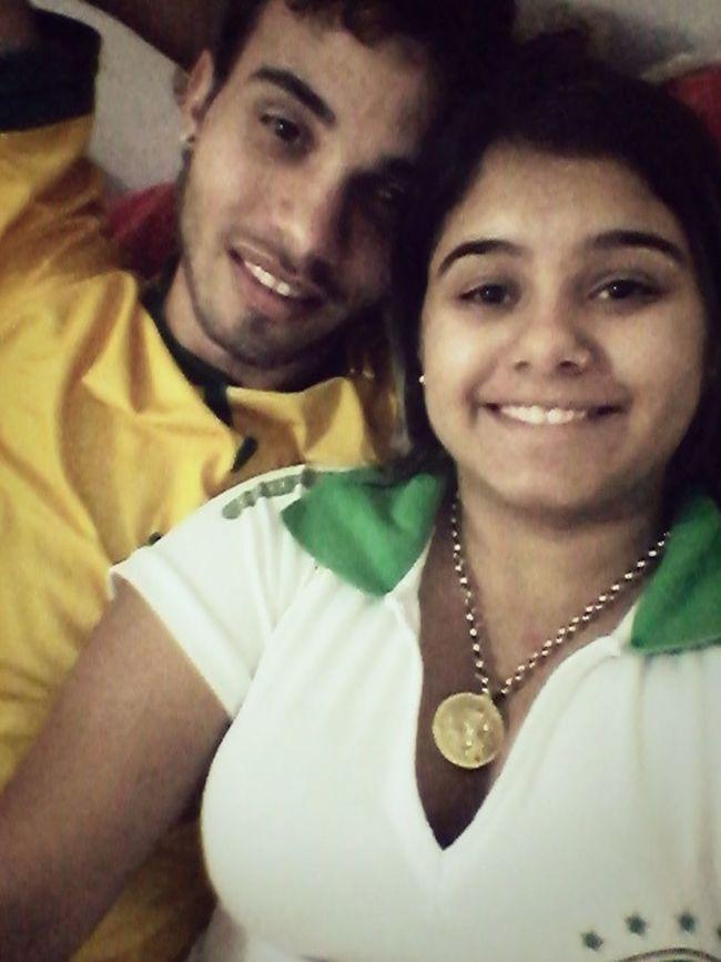 Hoje deu bom, deu Brasil ♥ selfie com o amor ✌