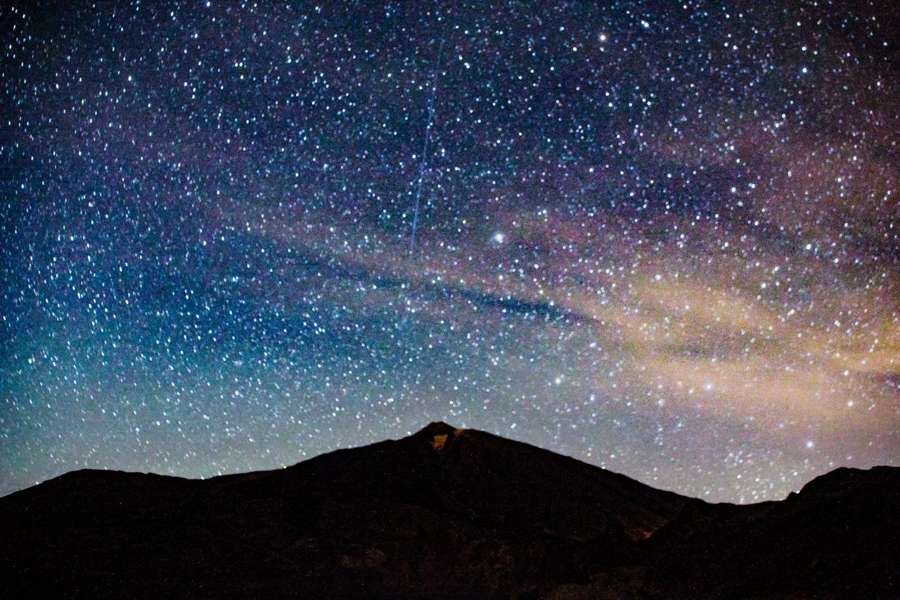 Star - Space Night Astronomy Mountain Galaxy Space Landscape Scenics Tranquility Constellation Nature Silhouette No People Space Exploration The Great Outdoors - 2017 EyeEm Awards